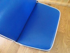 Blue seat repaired